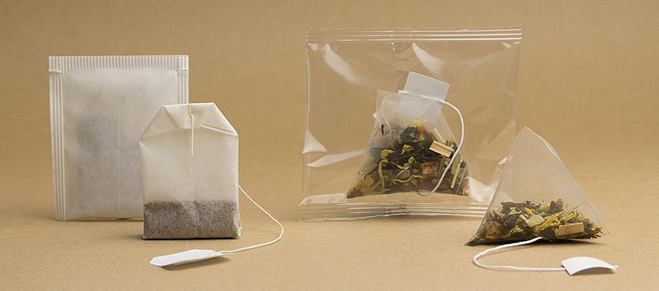 bustina per tè e bustina piramidale per infusi